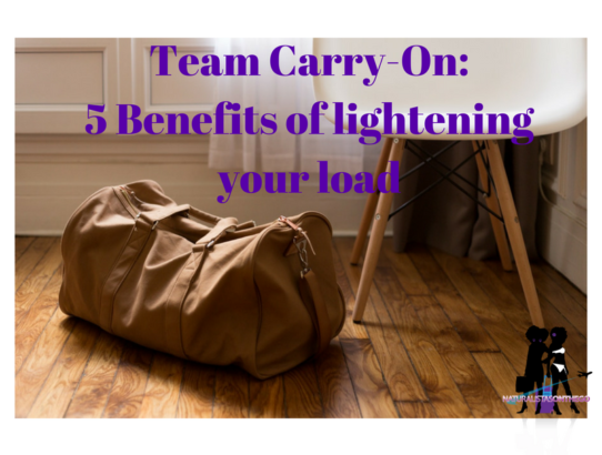 Team Carry-On: 5 Benefits of lightening your load.